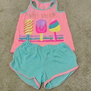So Girls pajama tank and short set size 5/6 pink